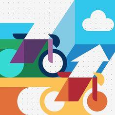 Hey Studio Bike illustration