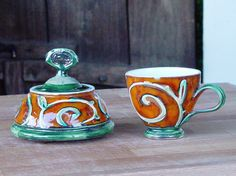 Handmade Pottery Gift Set. Ceramic set Sugar Bowl by DankoHandmade
