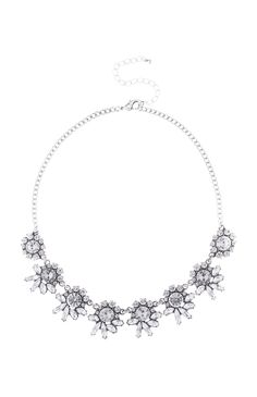 Silver Floral Crystal Necklace Primark, Casablanca, Crystal Necklace, Film, Diamond, Amazing, Silver, Jewelry, Fashion