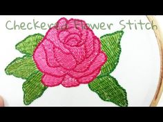 (7) Checkered Flower Stitch Embroidery - YouTube Embroidery Stitches, Hand Embroidery, Camera Phone, Crochet Hats, Creative, Youtube, Flowers, Handmade, Flower Designs