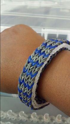 Monster loom triple fishtail bracelet Monster Tail, Fishtail Bracelet, Rainbow Loom Creations, Loom Bands, Hobbies, Storage, Create, Rubber Bands, Purse Storage