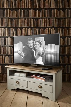 TV Unit Canterbury in Silk Grey and Dark Pine TV Cabinet  in Home, Furniture & DIY, Furniture, TV & Entertainment Stands | eBay!