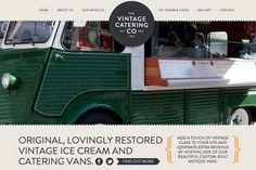vintage catering company website layout