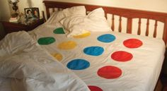 Twister sheets.  Ultimate seduction.