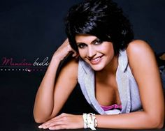 Mandira Bedi is an Indian actress, fashion designer,model and television presenter who gained celebrity status playing the title role in the 1994 television serial, Shanti, shown on India's national channel, Doordarshan which was the first ever daily soap on Indian television.