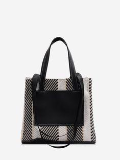 Shoulder Bags for Women Large Shoulder Bags, Canvas Shoulder Bag, Fashion Bags, Fashion Accessories, Striped Canvas, Cheap Shoes, Online Bags, Gym Bag, Shoe Bag