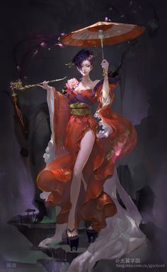 This is exactly the design I imagine the witch to be, from the dress to the smoke pipe (maybe minus the umbrella).