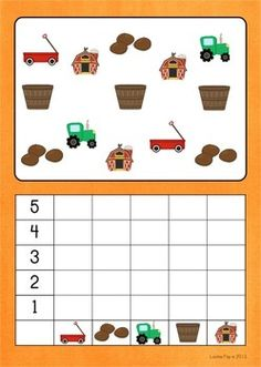 Math Centers - Autumn / Fall (Beginning Skills) . This count and graph is one of the 7 activities included in the unit. The graphs are available with colored backgrounds and plain white. Kindergarten Math Activities, Preschool Centers, Preschool Classroom, Fun Math, Math Centers, Preschool Crafts, Music Math, Learning Numbers, Autumn Activities