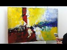 Pintura em Tela - Pintando em tela Reciclada - Tela 1