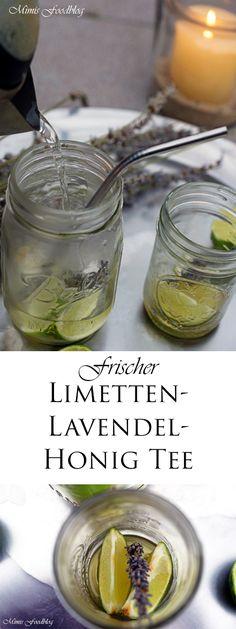 Frischer Limetten-Lavendel-Honig Tee - das ist eine wunderbare Mischung aus süß - sauer und einer leicht herben Lavendelnote.