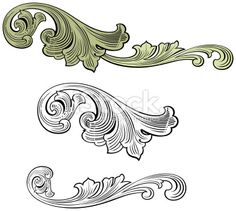 Ornate Scrolls Royalty Free Stock Vector Art Illustration