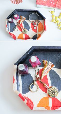 DIY Jewelry Tray Using Old Scarves - Henry Happened