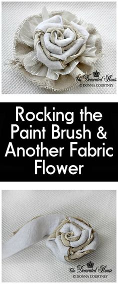Rocking the Paint Brush Another DIY Fabric Flower - 50 Easy Fabric Flowers Tutorial - Make Your Own Fabric Flowers - DIY & Crafts