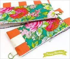 ScrapBusters: Rainbow Zippered Pouches in Two Sizes | Sew4Home