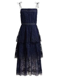 Zimmermann Castile Tiered Embroidered Silk Chiffon Dress - Womens - Navy Source by hochzeitsgast lange Cocktail Bridesmaid Dresses, Homecoming Dresses, Bridesmaid Gowns, Sexy Dresses, Evening Dresses, Chiffon Dresses, Long Dresses, Fall Dresses, Fashion Dresses