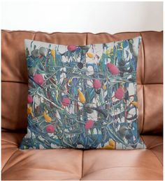 Color explosion Pillow by Bee-Bee Deigner (beebeedeigner) from Diy Pillow Covers, Decorating Your Home, Original Art, Feather, Bee Bee, Cushions, It Is Finished, Throw Pillows, Prints