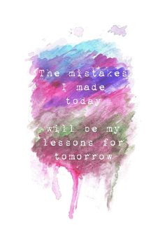 5x7 Matte Print The Mistake Lesson Watercolor Mixed by ArtByJacy, $10.00