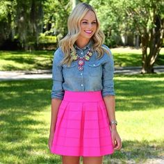 fun skirt. love the color.
