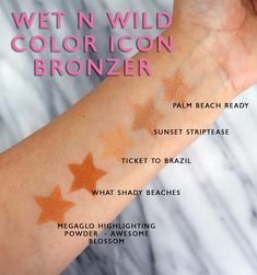 Wet N Wild Coloricon Bronzer Swatches