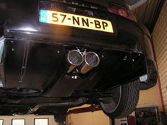 "3"" piping from the turbo to the back.....a HKS racing silencer and carbon Diffusor"