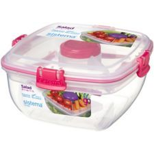 Sistema to Go Salade Lunch Box récipient de stockage dressing pot couverts 1 L Clair