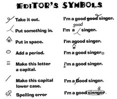 Examples of how to use editor's symbols.