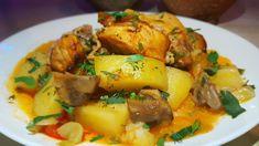 Жаркое в горшочках по-цыгански. Мясо с овощами в горшочках. Gipsy cuisine. - YouTube Baked Pork, Chicken, Meat, Baking, Ethnic Recipes, Food, Youtube, Russian Recipes, Easy Meals