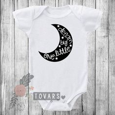 Dream Big Little One with Moon in Black infant #clothing #children @EtsyMktgTool http://etsy.me/2z0RcAx