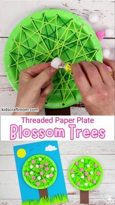 Make a pretty Laced Paper Plate Cherry Blossom Tree Craft. A lovely spring craft to introduce kids to sewing and develop fine motor skills. An educational paper plate craft that looks gorgeous. #kidscraftroom #kidscrafts #springcrafts #blossom #cherryblossom #paperplatecrafts #preschoolcrafts #finemotorskills Class Art Projects, Spring Projects, Arts And Crafts Projects, Spring Crafts, Diy Crafts Hacks, Diy Crafts For Kids, Art For Kids, Creative Activities For Kids, Creative Kids