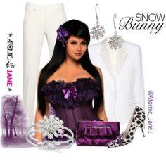 Purple Snow Bunny