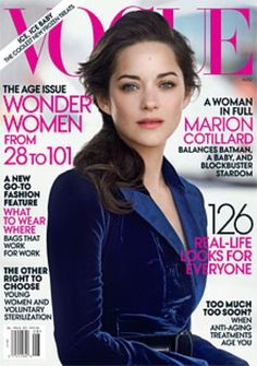 Marion Cotillard covers the August 2012 issue of Vogue.