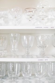 stemmed glassware at the surface library in l.a. / sfgirlbybay