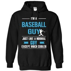 Baseball guy is cooler - #groomsmen gift #couple gift. TRY => https://www.sunfrog.com/LifeStyle/Baseball-guy-is-cooler-9932-Black-9952054-Hoodie.html?68278