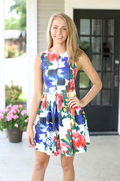 New Day Dress - Ivory Floral