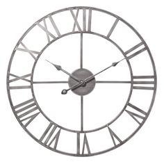 Maison du monde Ambiance industrielle Horloge en métal D 45 cm ZINC Dimensions (cm) : x L 45 x PR 5  29,99 €