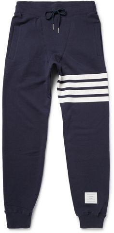 Thom Browne Loopback Cotton-Jersey Sweatpants- Click link for product details :)