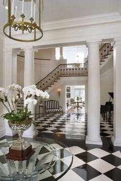 Pillars and foyer flooring