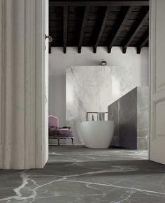 Cerim timeless wall amani grey gloss 80x240 floor amani grey 80x80 b a t h r o o m - Casamood ceramiche ...