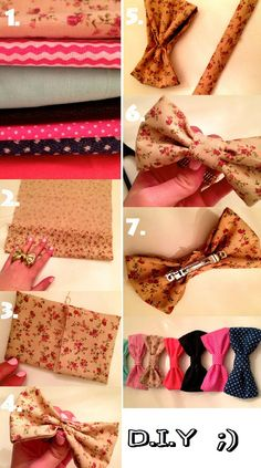 DIY how to make a bow tie hair clip