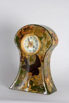 Rozenburg Pottery Holland, W.P. Hartgring Art Nouveau Mantle Clock, 1904 image 2