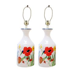 I pinned this Vintage Porcelain Floral Table Lamp (Set of 2) from the Montelimar Treasure event at Joss and Main!