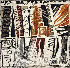 Paula Barragan. Bambusa (Bamboo). 2004. Intaglio. 4 3/4 x 4 3/4 inches. Ed. 50.