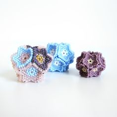 Flower Beaded Bead Tutorial Download - HDYMT
