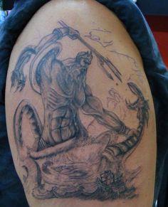 poseidon tattoo - in progress www.tattooandtattoo.com