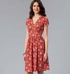 Misses' V-Neck Dresses, K4068 http://kwiksew.mccall.com/k4068-products-48925.php?page_id=3013 #kwiksewpatterns