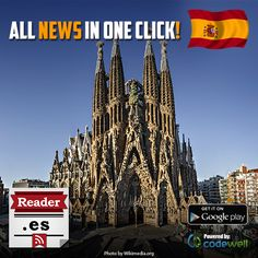 Spain Reader enables you to read all the latest news from the best Spain portals on one place!  Choose the field of interest and the category you want! - https://play.google.com/store/apps/details?id=com.codewell.unltd.mk.esreader  Have fun read: Portada de EL PAÍS, El Correo Digital, El Punt Avui, Sport.es, diariovasco.com, ArtículosdeDiariodeCádiz and @TitularesdeCanarias7.