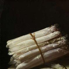 Still Life with Asparagus, Adriaen Coorte, 1697 - Food and Cooking-Collected Works of Corey Pressman - All Rijksstudio's - Rijksstudio - Rijksmuseum