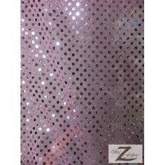 """SMALL CONFETTI DOT SEQUINS FABRIC - Pink - 44""""/45"""" WIDTH SOLD BY THE YARD POLKA DOT By Big Z Fabric"""
