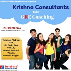 Get expert GRE Coaching only at Krishna Consultants.