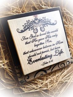 John 316 Hanging Plaque Customize Your Colors by DesignsBySyds